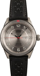 Oris Artix GT Black Leather Strap