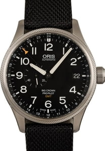 Oris Big Crown Pro Pilot GMT Black Textile Strap