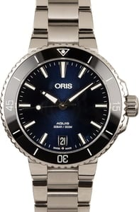 Oris Aquis Date Blue Dial Steel Watch