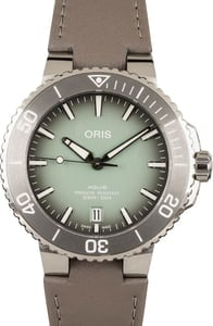 Oris Aquis Date Green Dial Stainless Steel