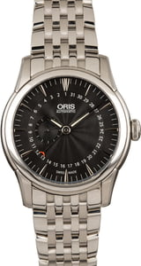 Oris Artelier Pointer Date Small Second Black Dial