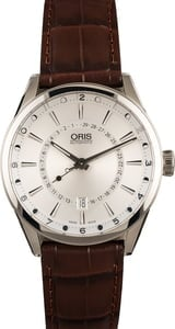 Oris Artix Pointer Day Date Silver Dial