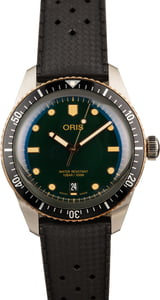 Oris Divers Sixty-Five Green Dial Rubber Strap