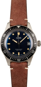 Oris Divers Sixty-Five 36MM Leather Strap