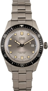 Oris Divers Sixty Five Silver Dial Stainless Steel Bracelet