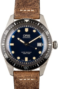 Oris Divers Sixty-Five 42MM Brown Leather Strap