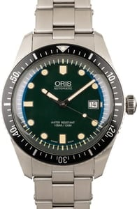 Oris Divers Sixty-Five Stainless Steel Green Dial