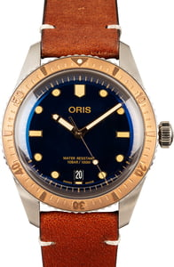 Oris Divers Sixty-Five Leather Band