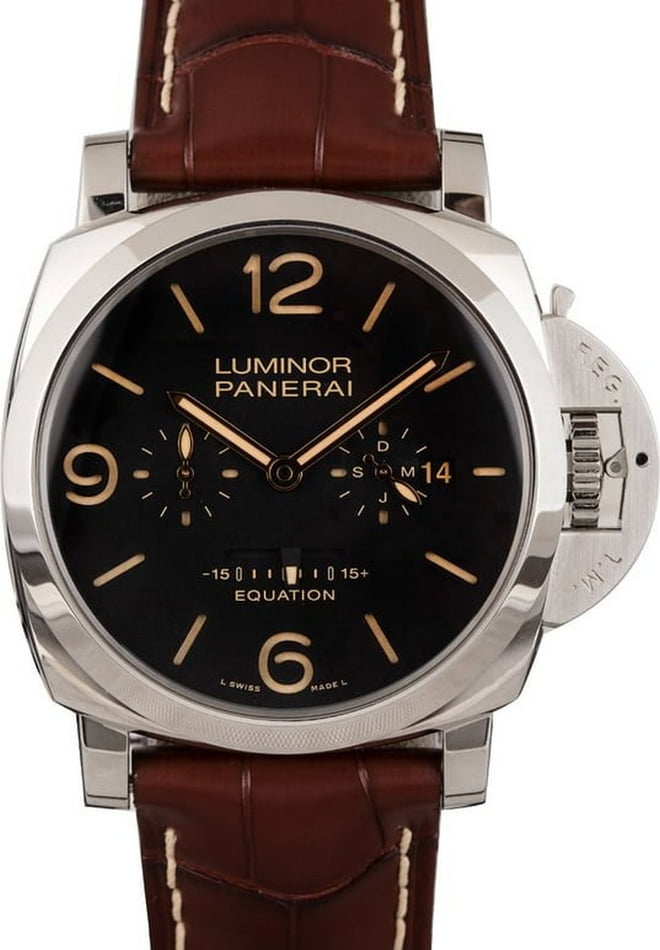 "PreOwned Limited Panerai Luminor 1950 8 Days ""Equation of Time"" PAM601"