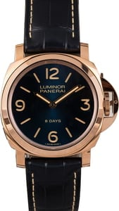 Unworn Panerai Luminor 8 Days Oro Rosso PAM717