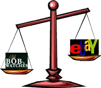 Bob's Watches vs. eBay