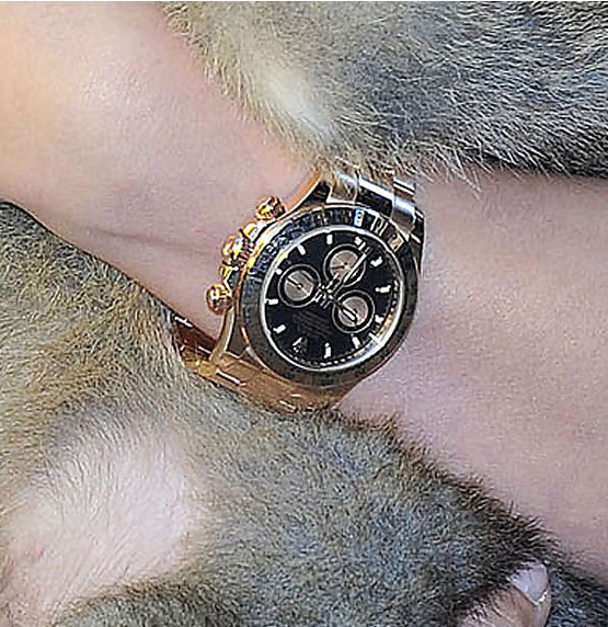 Hayden Panettiere with Rolex Daytona