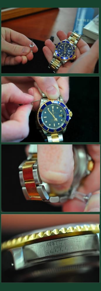 Finding your Rolex Serial Number