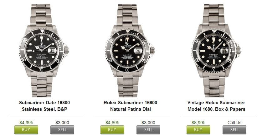 buy rolex submariner - Bob's Watches