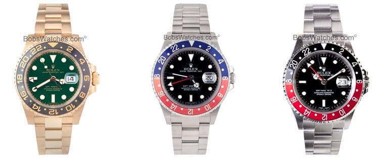 Rolex GMT MASTER comes in many different forms