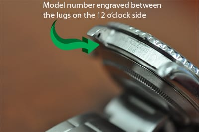 Rolex Model Number on Watch Case