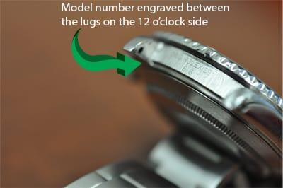 Rolex Model Number on Watch Case