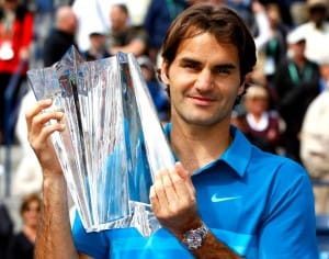 Roger Federer wearing Rolex Watch