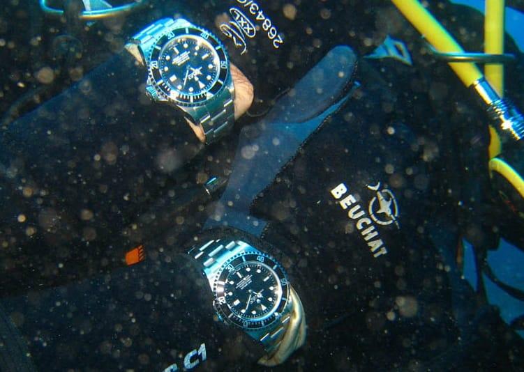 A Rolex Submariner History is underwater