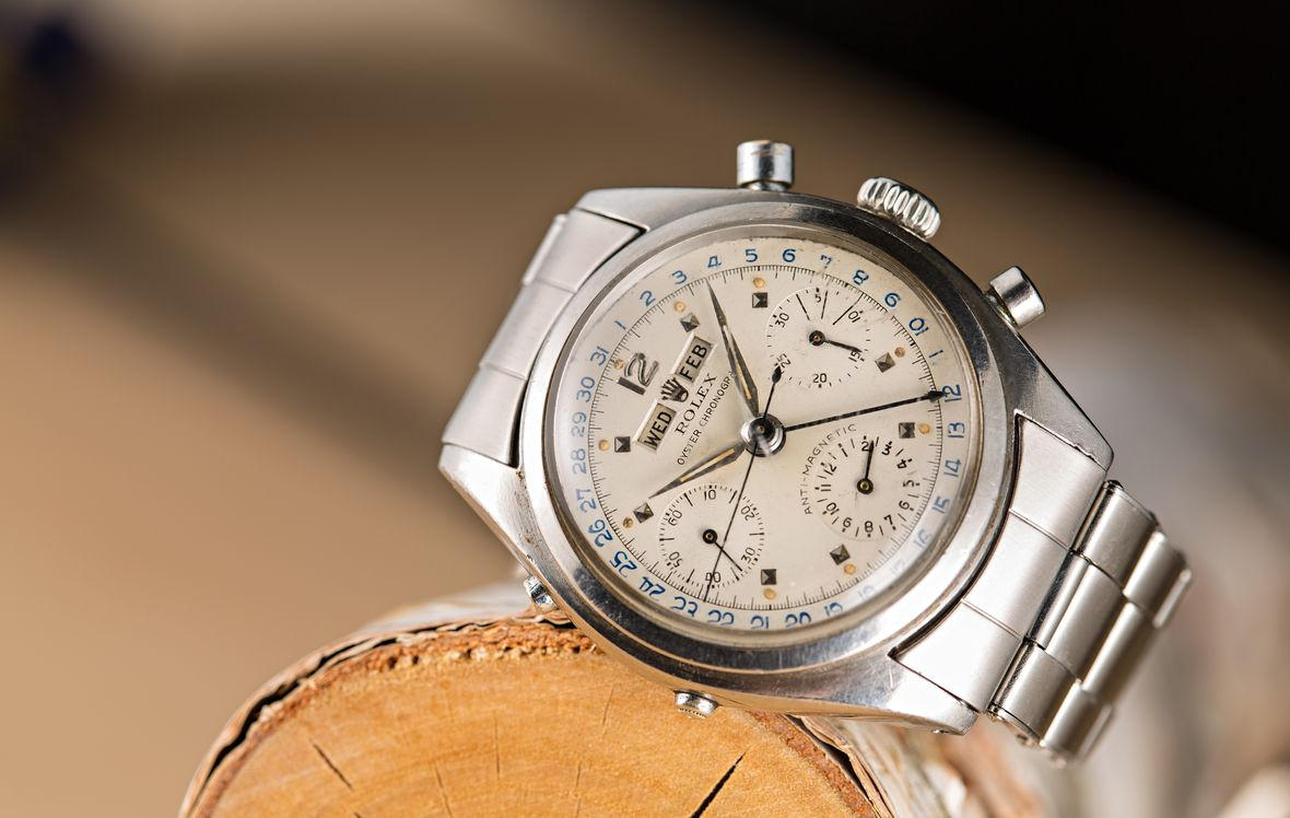 Ski Week Vintage Rolex Dato-Compax Triple Calendar Chronograph 6236 Jean-Claude Killy