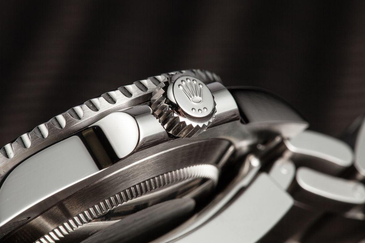 Rolex Crown on Submariner Watch