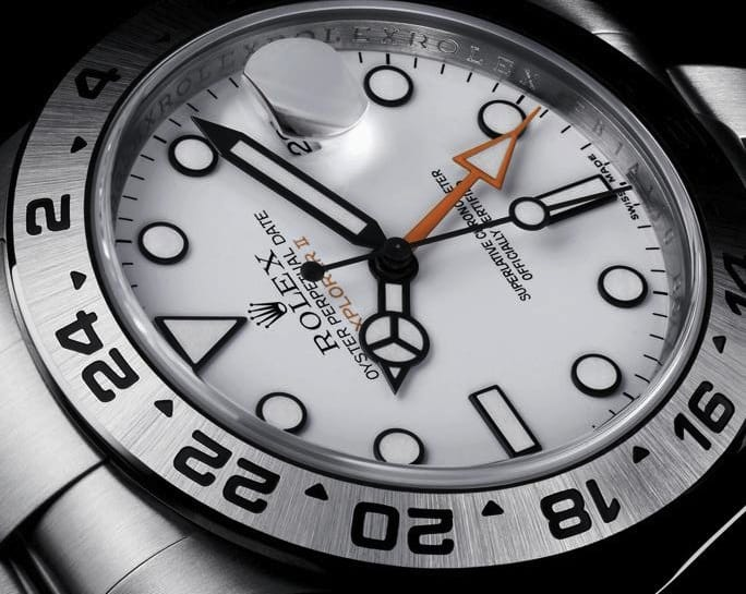 The Rolex explorer ii is a watch that allows for people to take their timepiece anywhere.
