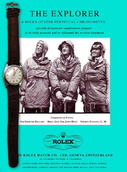 Rolex Explorer poster for 60th anniversary of Everest climb