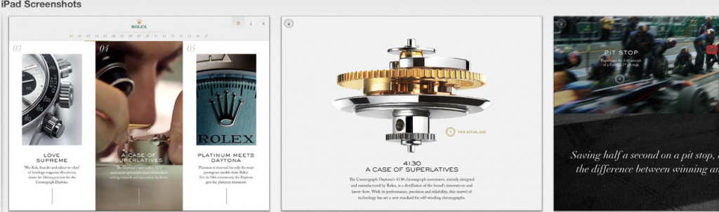 The Rolex Daytona Experience is on the ipad app