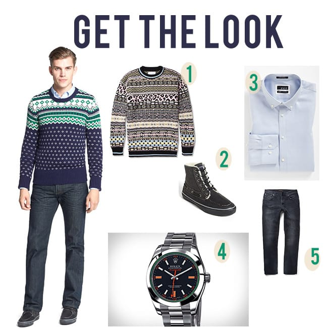 mens fashion trends pattern sweater