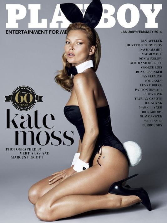playboy kate moss 60th anniversary