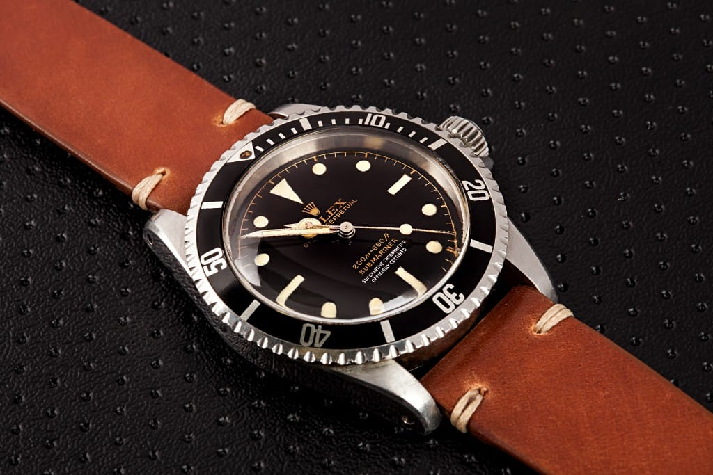 rolex submarner 5512 brown leather strap - Bob's Watches
