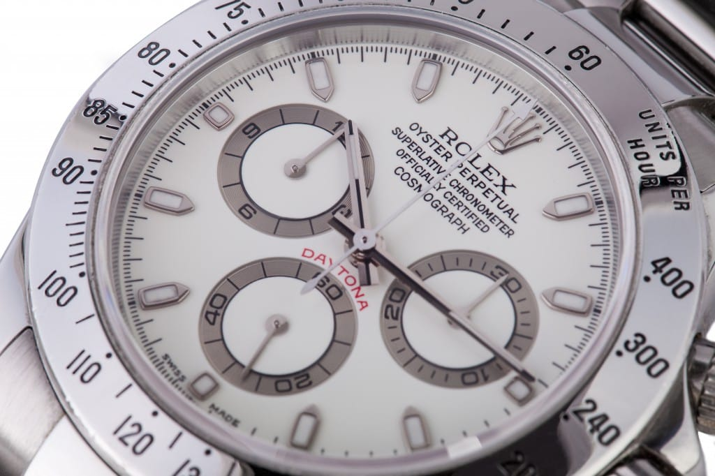 daytona cream colored discolored dials from Bob's Watches.