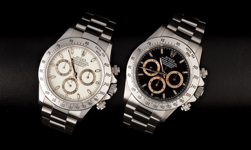 discolored rolex daytona dials from Bob's Watches.