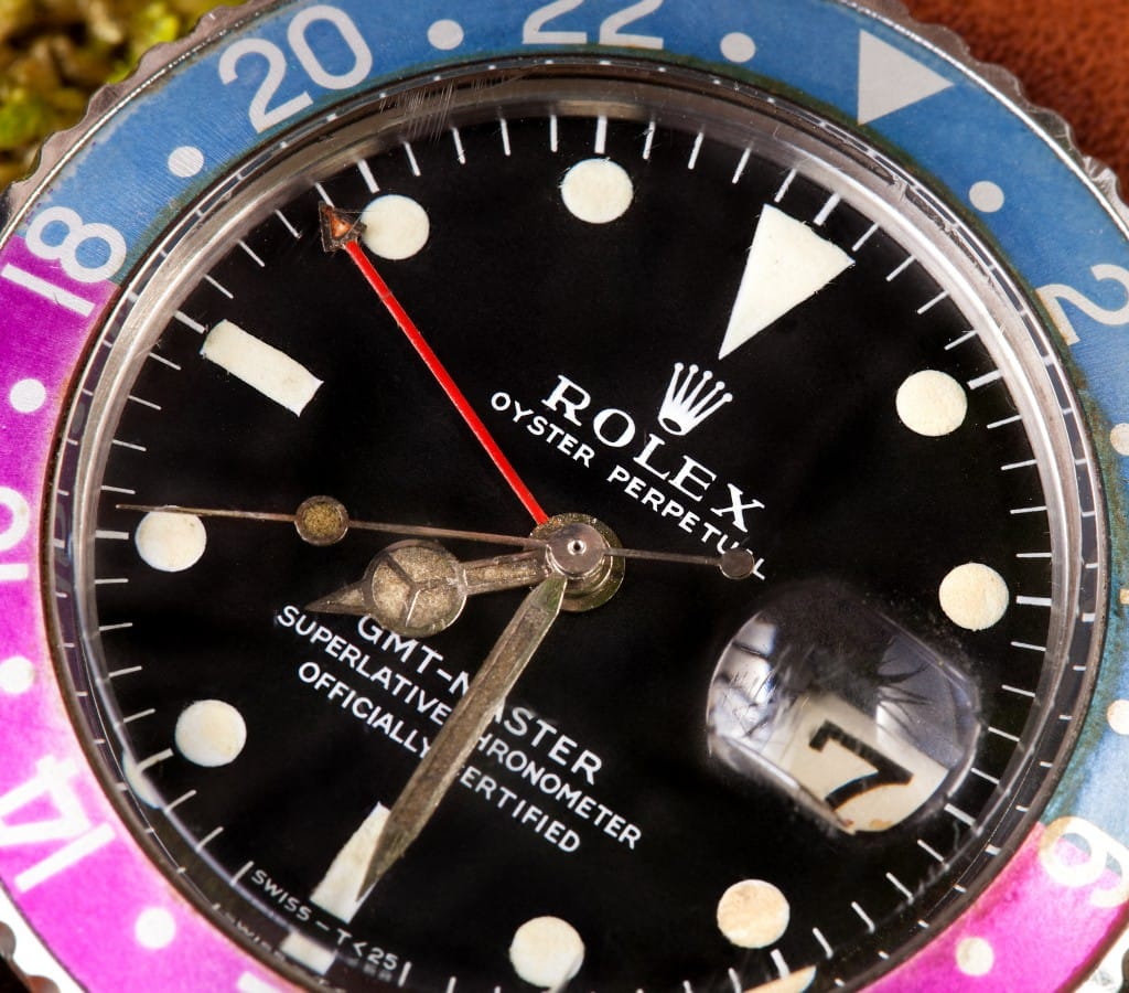gmt master 1675 rolex tropical dial