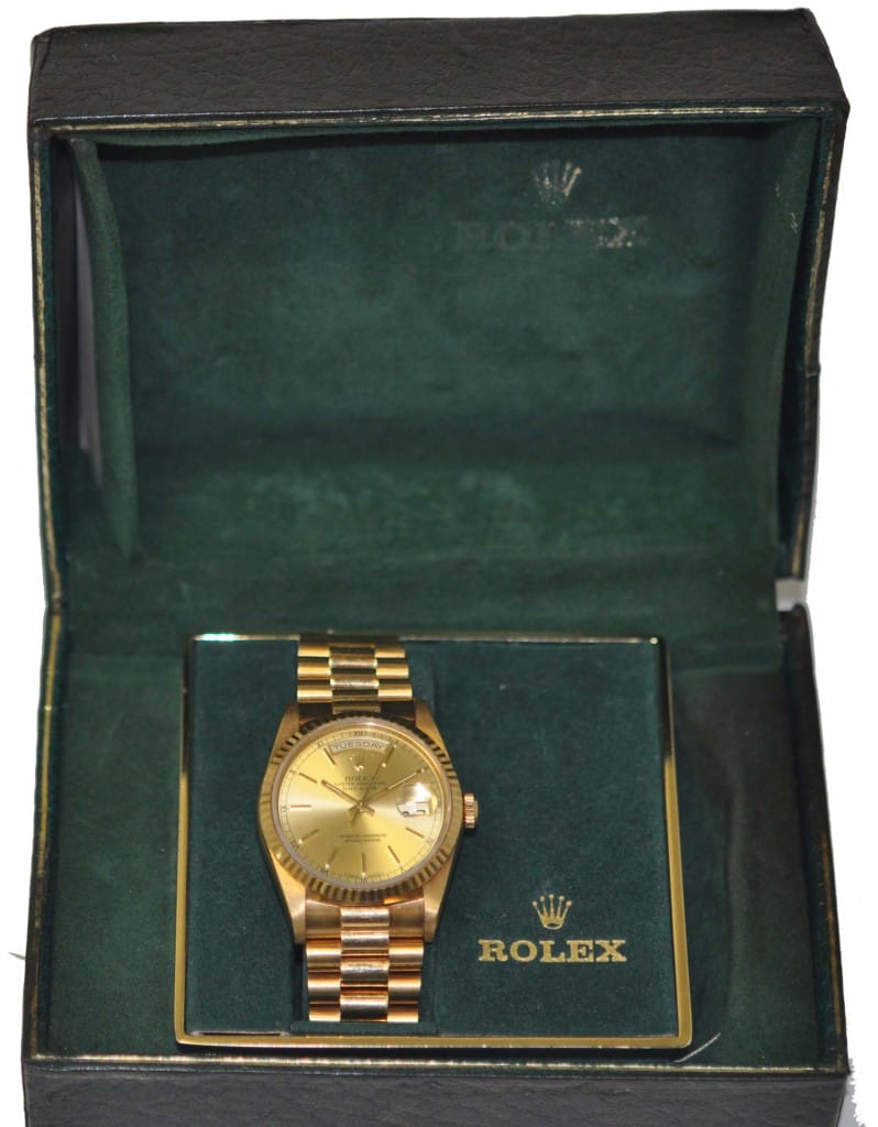 rolex box gold day date