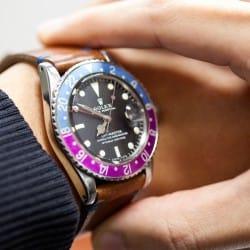 rolex gmt vintage tropical wrist