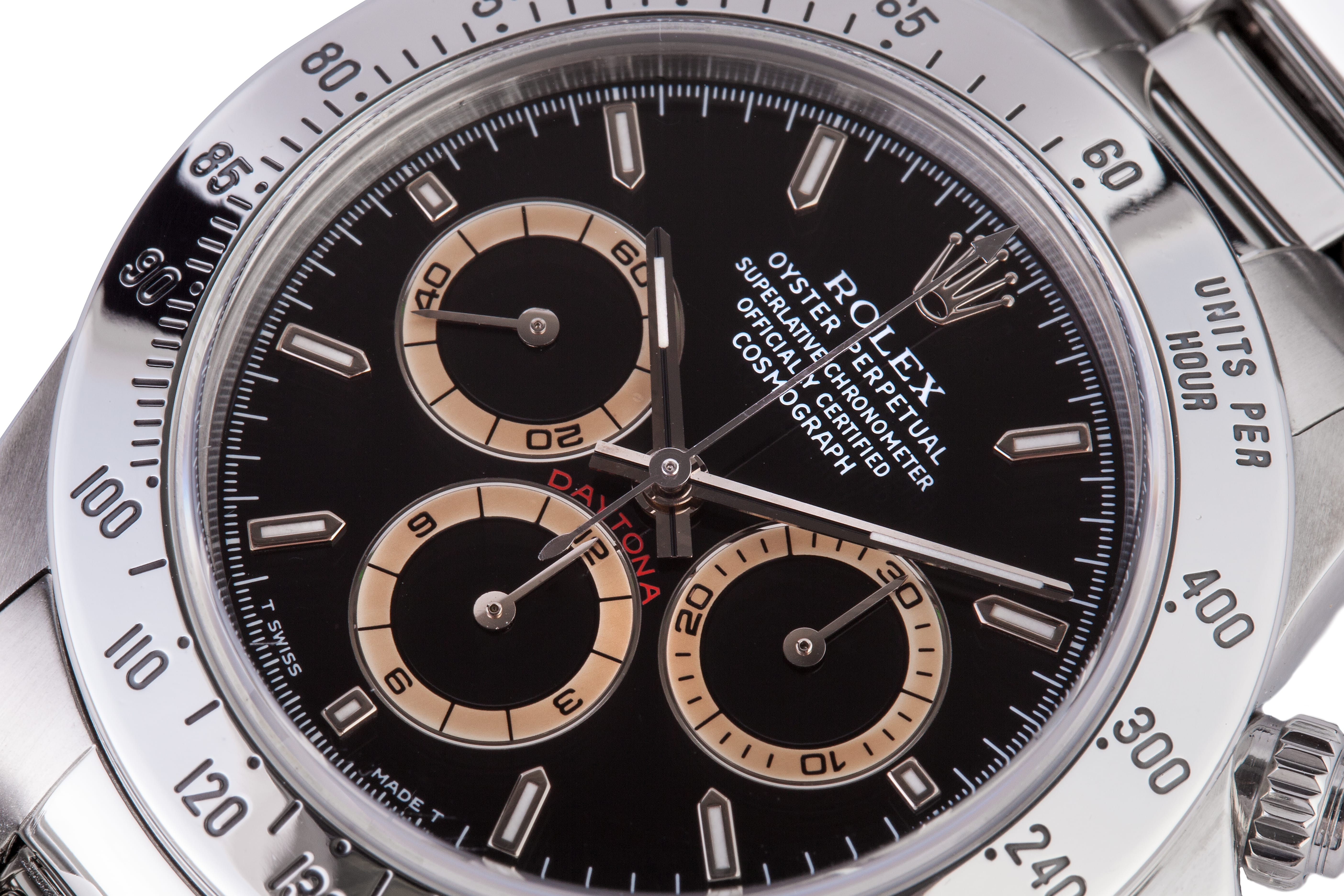 stainless steel cosmograph daytona discolored dials