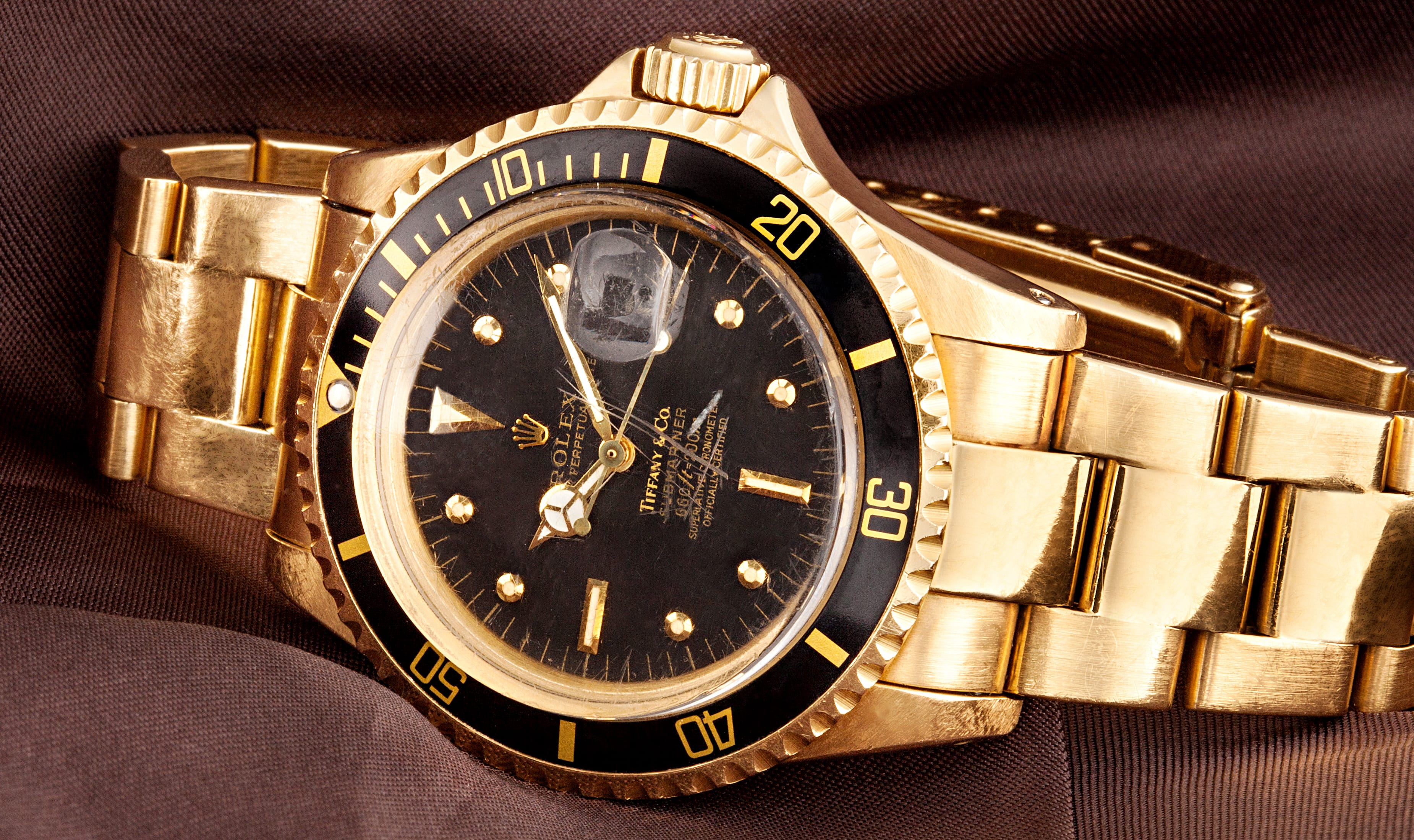 Vintage Of The Week: Gold Rolex Tiffany Submariner 1680