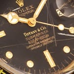 tiffanys submariner rolex black dial close up