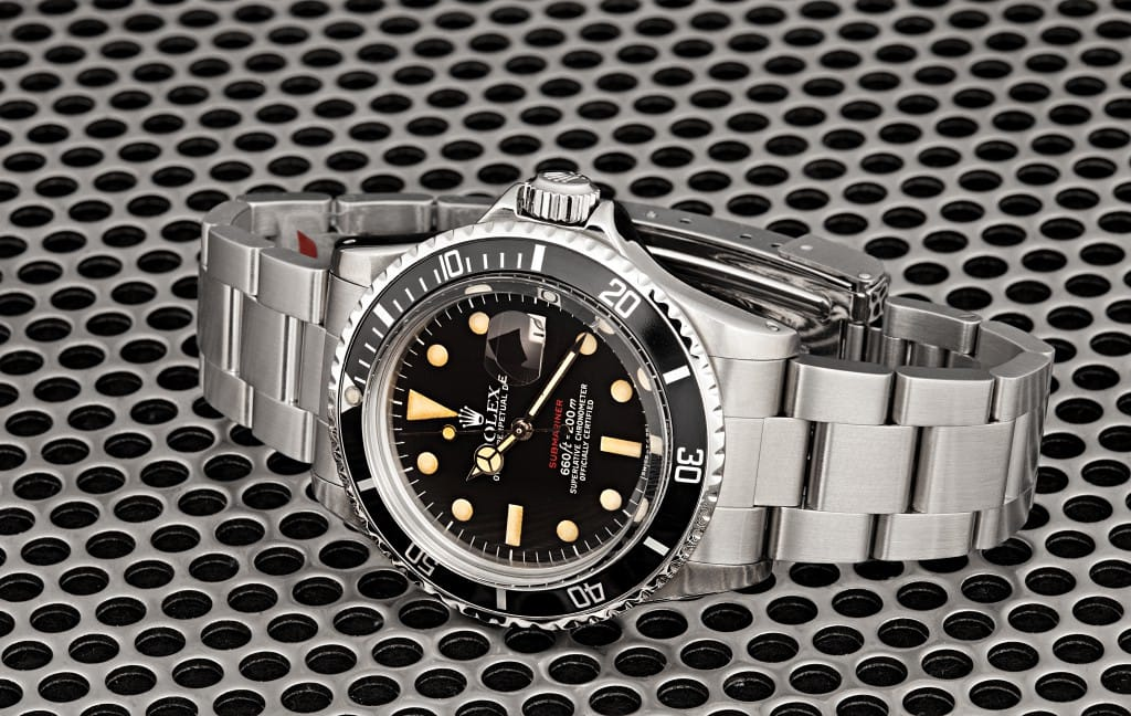 vintage stainless steel submariner 5512 from Bob's Watches