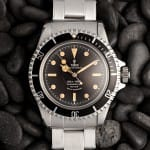 tudor stainless submariner black bezel