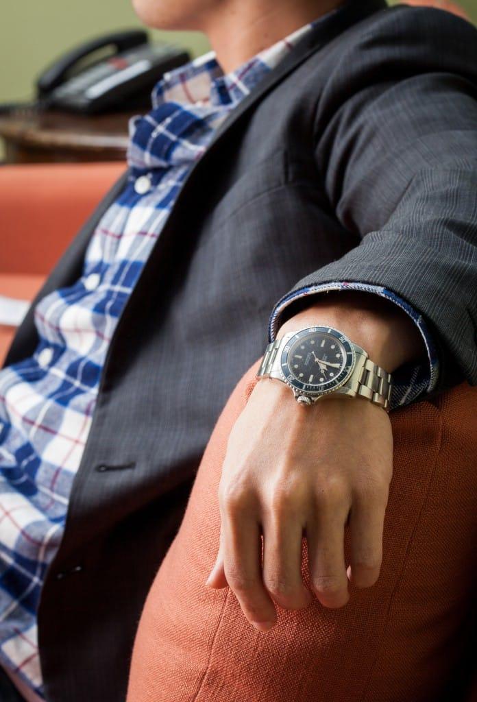 Vintage Submariner Watch on Wrist