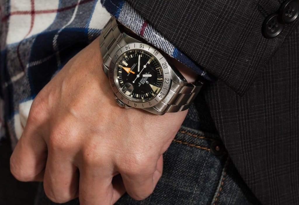 wrist shot of a vintage explorer 1655 - Bob's Watches