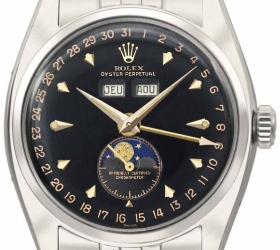 Rolex Ref 6062 Annual Calendar with Black Lacquer Dial
