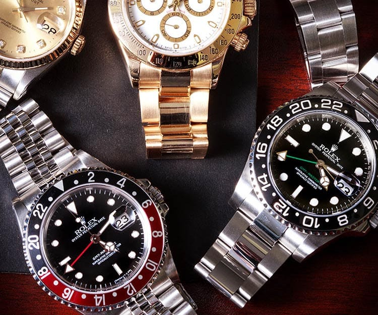 GMT-Master, GMT-Master II, Daytona, Datejust from Bob's Watches.