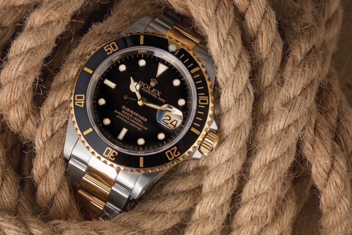 Rolex 16613 Submariner Two-Tone Steel and Gold - Black Bezel