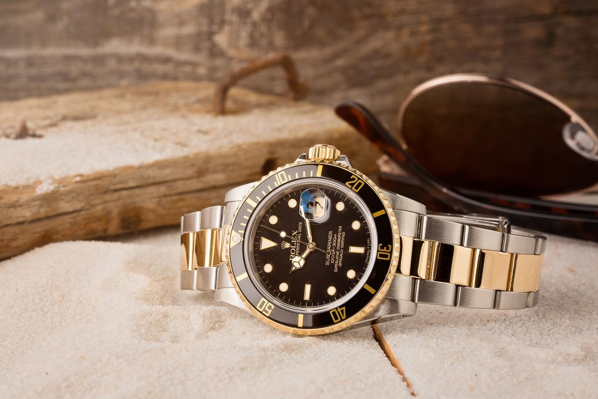 Rolex 16613 Submariner Two-Tone Steel and Gold Black Dial