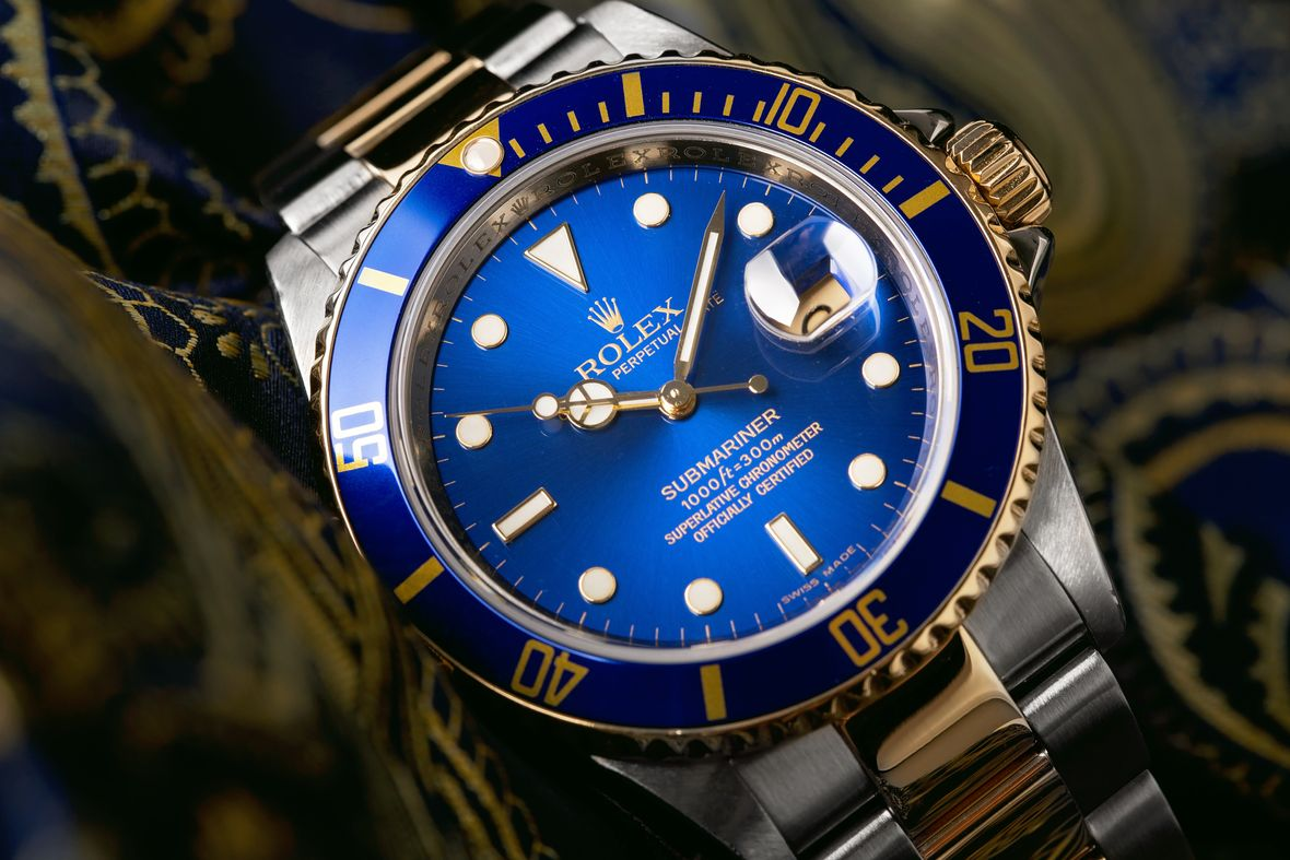 Rolex 16613 Submariner Two-Tone Steel and Gold - Blue Bezel