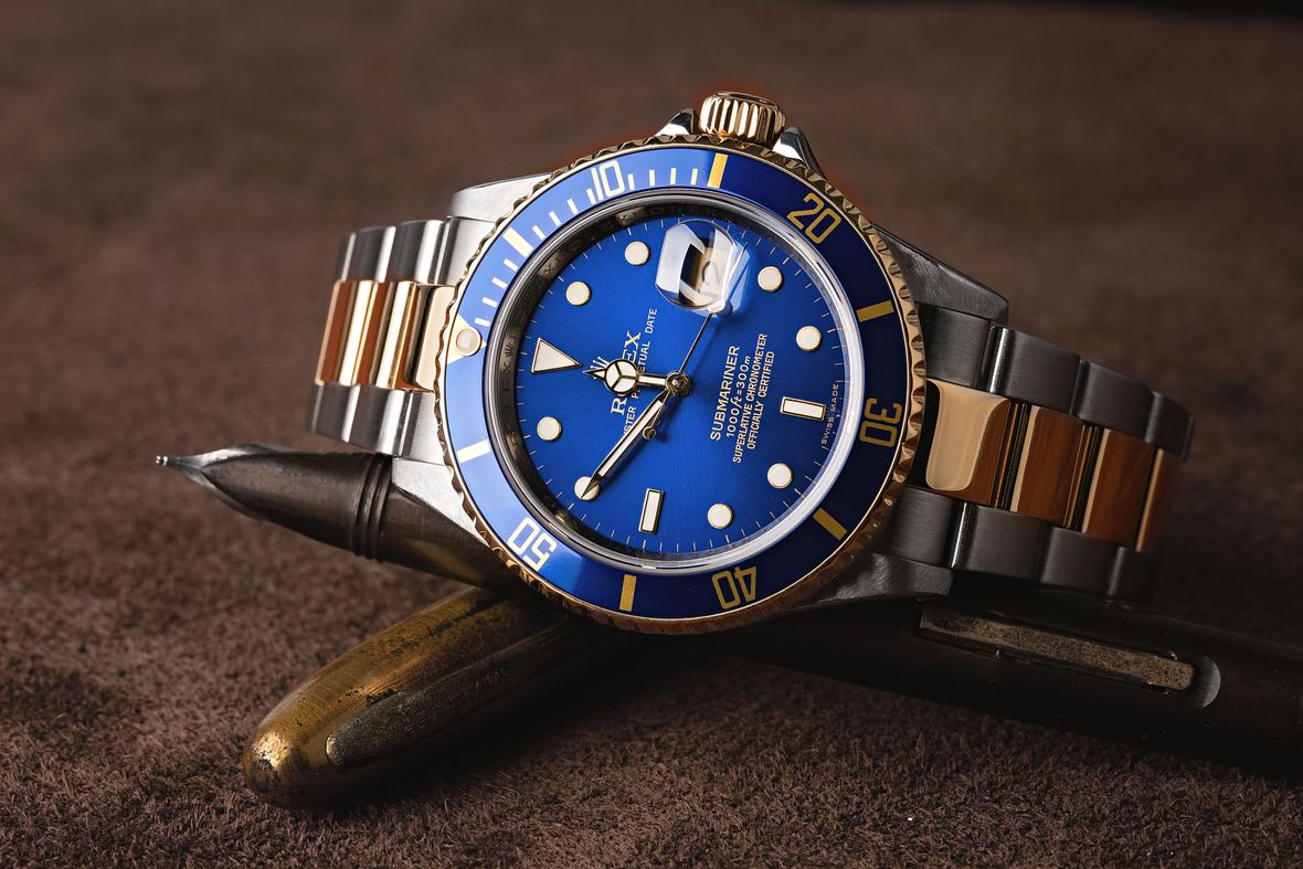 Rolex 16613 Submariner Two-Tone Steel and Gold Blue Dial