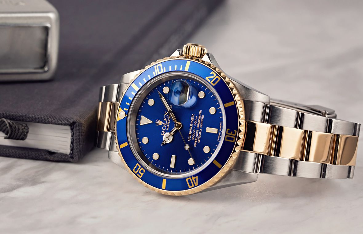 Rolex 16613 Submariner Two-Tone Stainless Steel 18k Gold